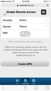 Kako automatski da podesite internet parametre na iPhone?