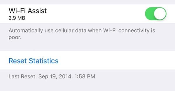 Apple poboljšava WiFi Assist na iOS 9.3 koji pokazuje tačnu upotrebu podataka