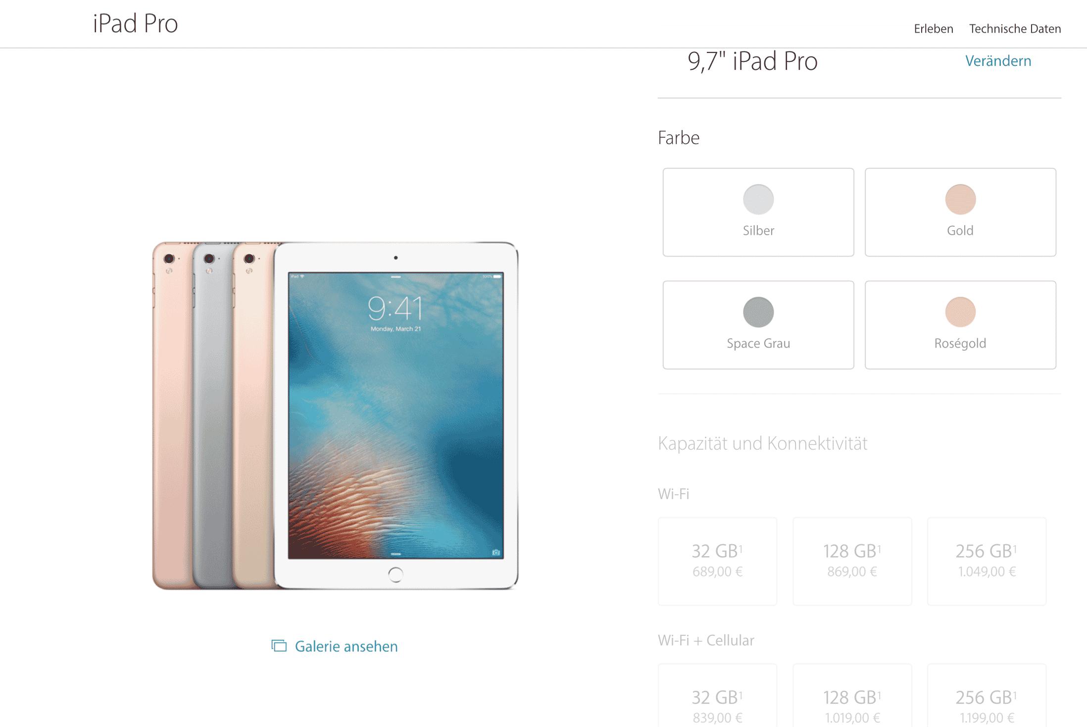 Objavljane su cene novog iPad Pro od 9.7 inča