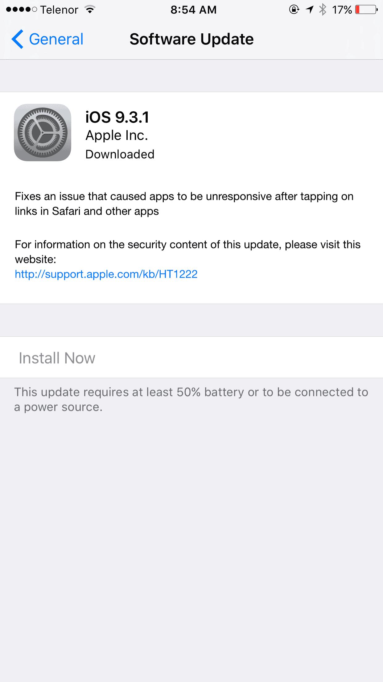 iOS 9.3.1 ispravlja grešku prilikom otvaranja linkova, Phone4u