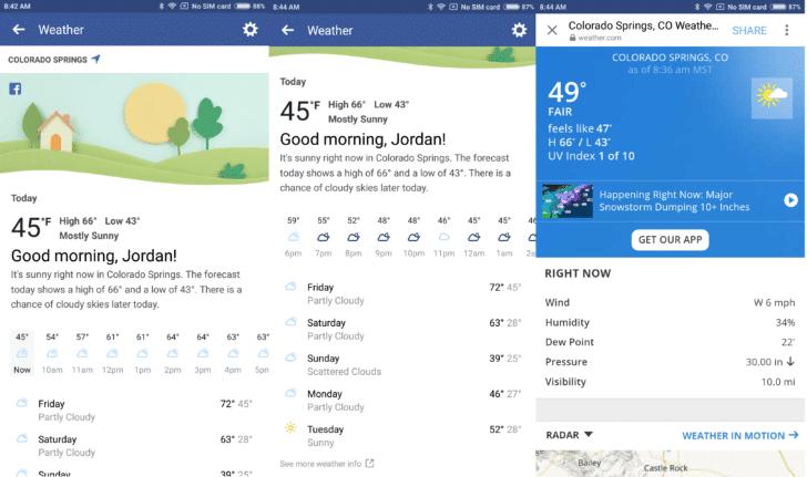 Facebook uvodi vremensku prognozu u mobilnu aplikaciju, Phone4u