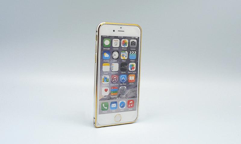 Alu Bumper Gold Frame iPhone 6 srebrni