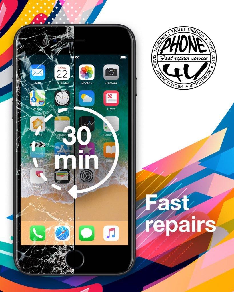 Servis brze popravke za Samsung i Apple za 30 minuta