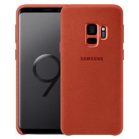 Alcantara Cover za Samsung Galaxy S9 crvena