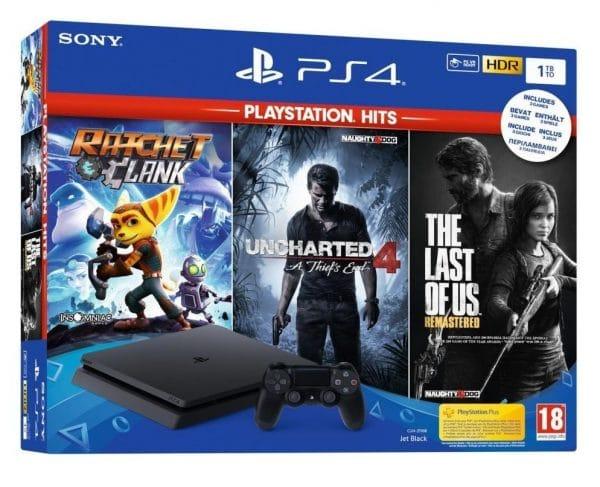 PS4 + 3 igre